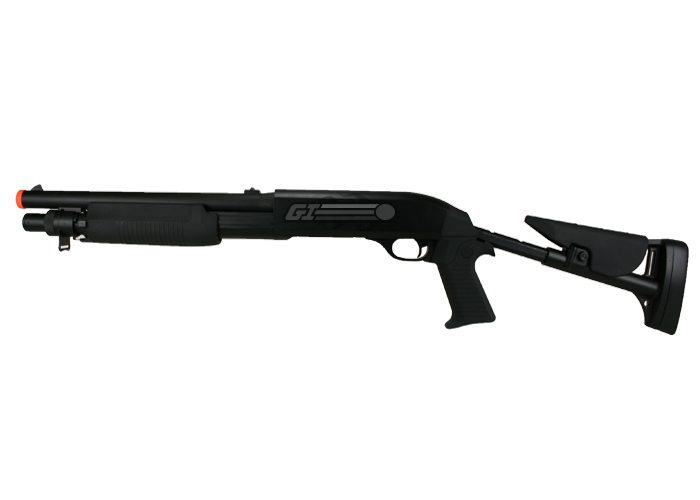 Populaire Eagle M3 Retractable Stock Multi-Shot Shotgun Spring Airsoft Gun  VO69