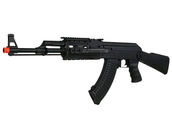 JG JG0512MG Tactical AK47 RIS AEG Airsoft Rifle (Black)