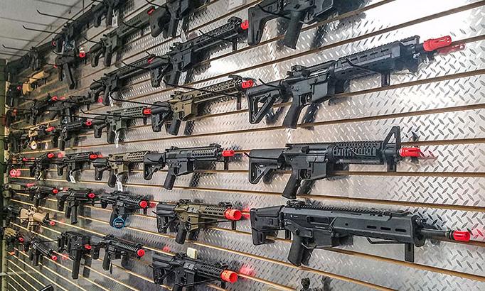 Airsoft Gun Wall